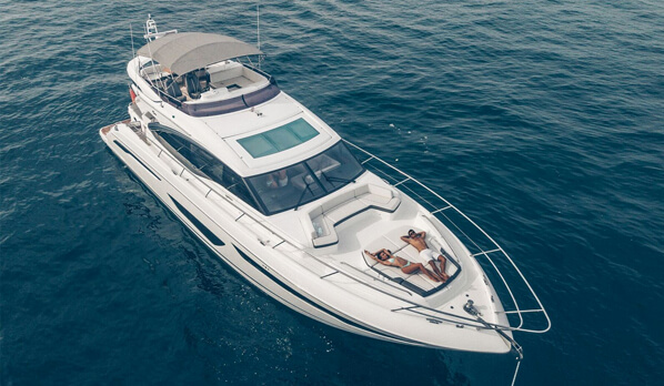 Princess S65 - Limestone Private Charters Fleet
