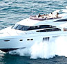 Princess P64 - This yacht is equipped with stabilizers to keep her steady even in choppy seas.